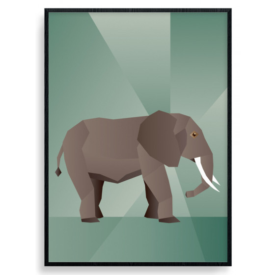 Polygon Elephant Plakat wallsticker