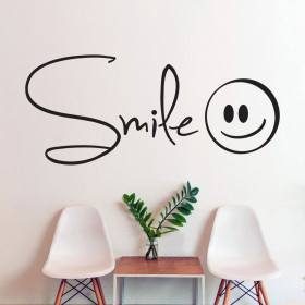 Smile wallsticker