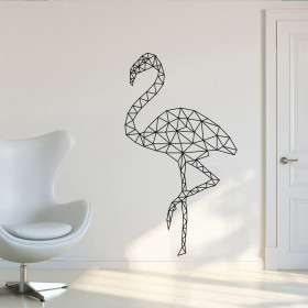 Abstrakt flamingo wallsticker