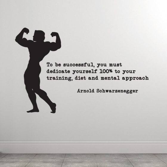 Dedicate yourself - Arnold wallsticker
