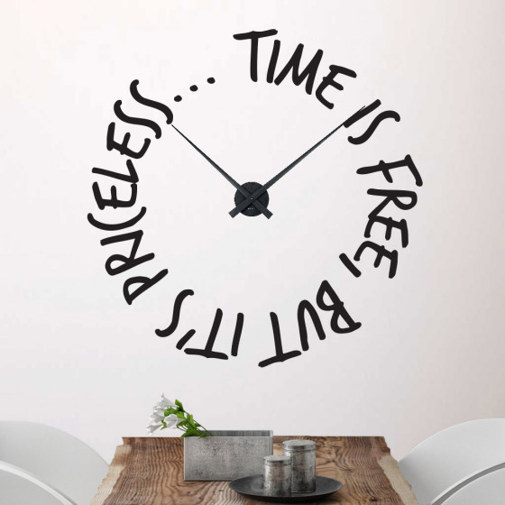 Time is free klokke wallsticker