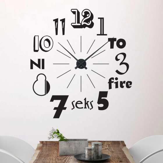 Klokke 2 wallsticker