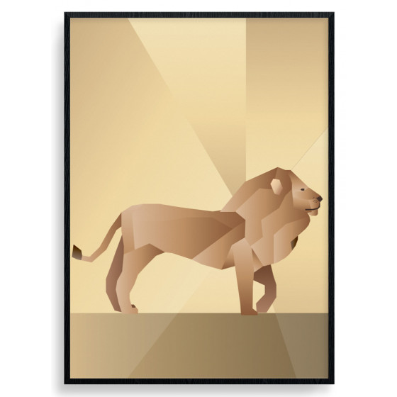 Polygon Lion Plakat wallsticker