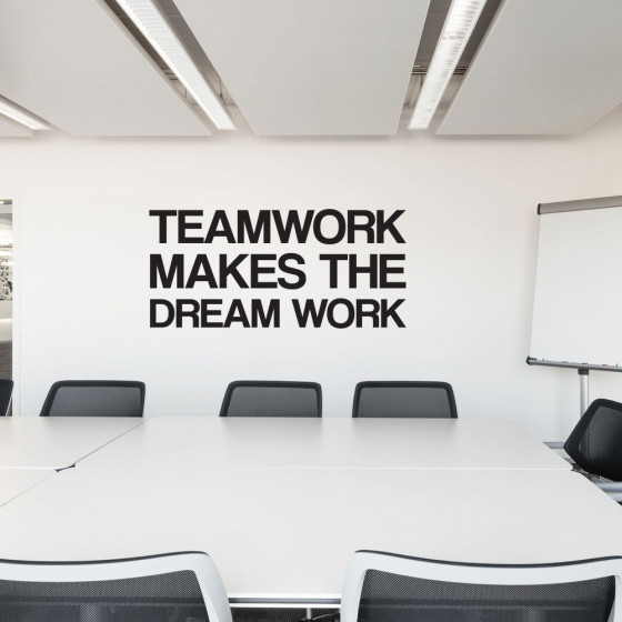 Teamwork wallsticker