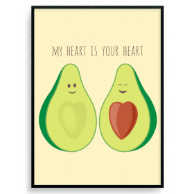 Avocado Love plakat wallsticker