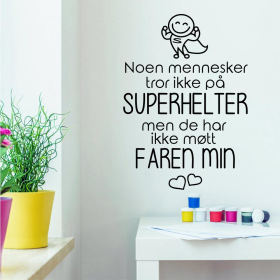 Faren min wallsticker