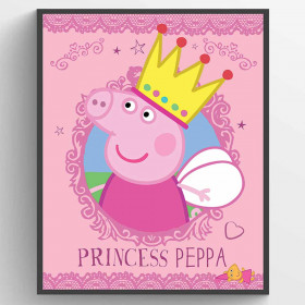 Peppa Gris Princess Peppa Plakat wallsticker