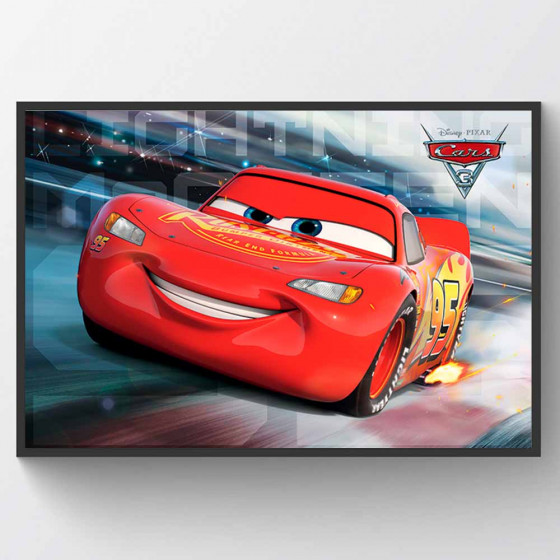 Cars 3 - Lightning McQueen Race Plakat wallsticker