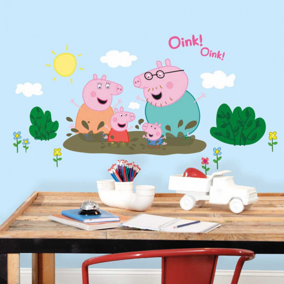 Peppa Gris - pakke #2 wallsticker