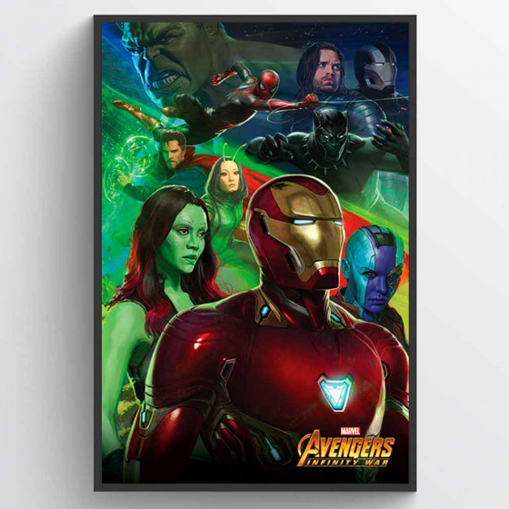 Avengers - Iron Man Plakat wallsticker