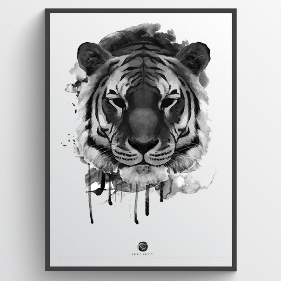 Texture Tiger plakat wallsticker
