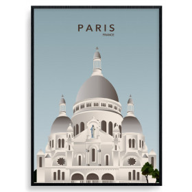 Paris Sacré Cour Plakat wallsticker