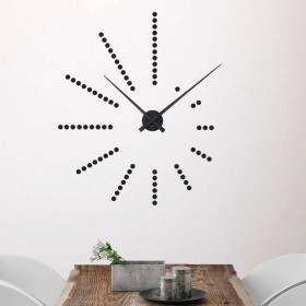Dots klokke wallsticker