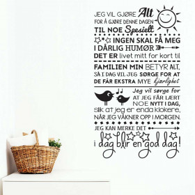 I dag blir en god dag wallsticker