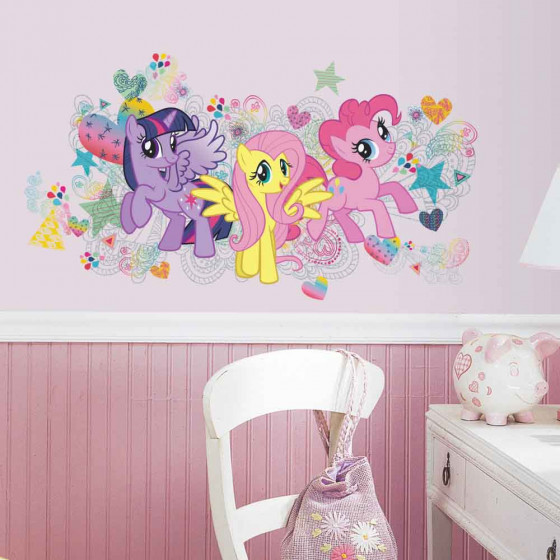 My Little Pony - pakke #2 wallsticker