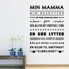 Min mamma wallsticker