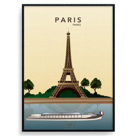 Paris Eiffel Tower Plakat wallsticker