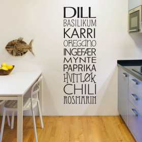 Krydder wallsticker