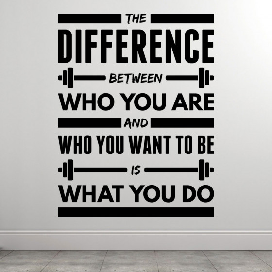 The Difference wallsticker