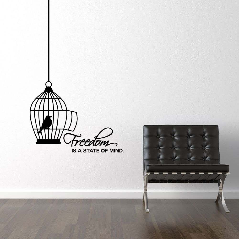Freedom is a state of mind wallsticker