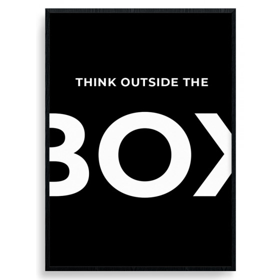 Think outside the box plakat wallsticker
