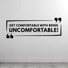 Get Comfortable wallsticker