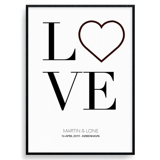 Personlig love - plakat wallsticker