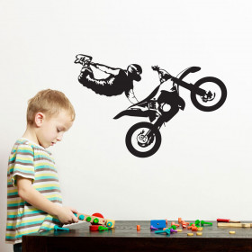 Motocross wallsticker
