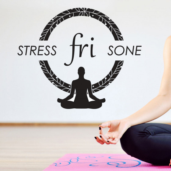 Stress fri sone wallsticker