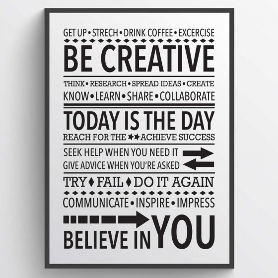 Be creative Plakat wallsticker