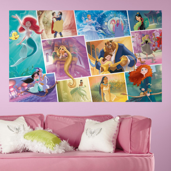 Disney Prinsesser collage - XL wallsticker