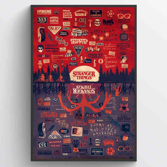 Stranger Things (The Upside Down) Plakat wallsticker