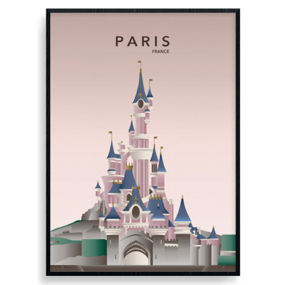 Paris Disneyland Plakat wallsticker