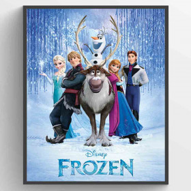 Frozen Cast Plakat wallsticker