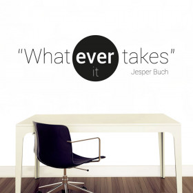 Whatever it takes! wallsticker