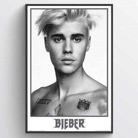 Justin Bieber Black and White Plakat wallsticker