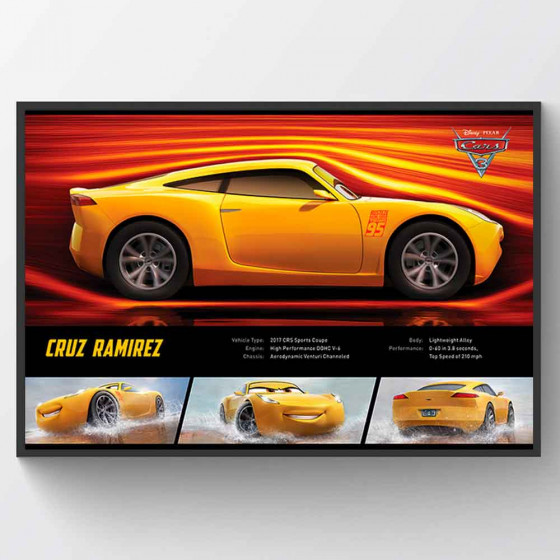 Cars 3 - Cruz Ramirez Stats Plakat wallsticker