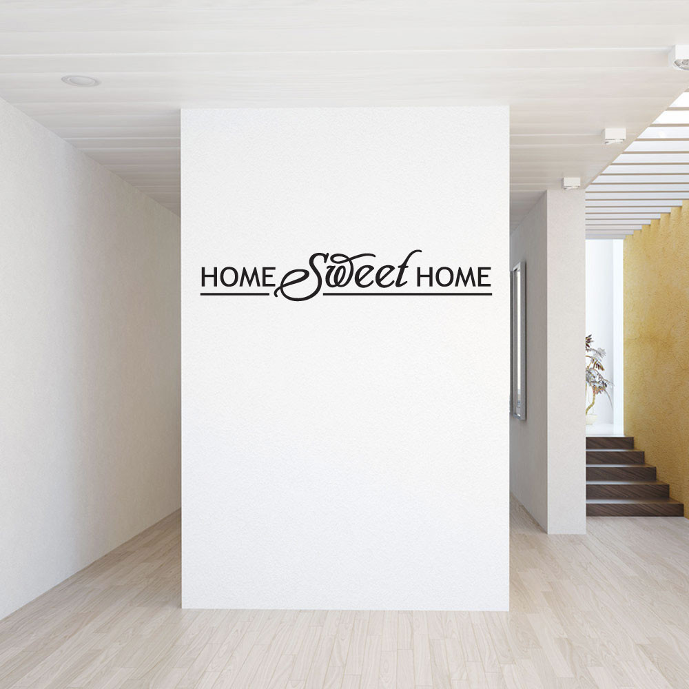 1 home sweet home wallsticker fra kun 239 kr home sweet home wall sticker from loveabode com
