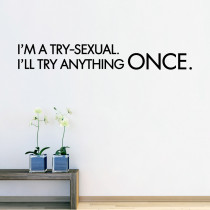 I'm a try-sexual.