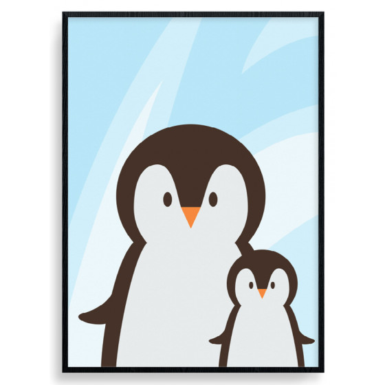 Penguin Mom Plakat wallsticker