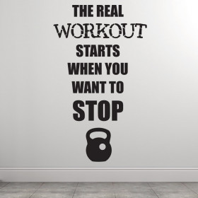 The real workout wallsticker