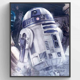 Star Wars The Last Jedi (R2-D2 Droid) Plakat wallsticker