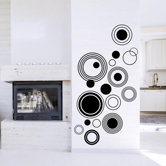 Abstrakte sirkler wallsticker
