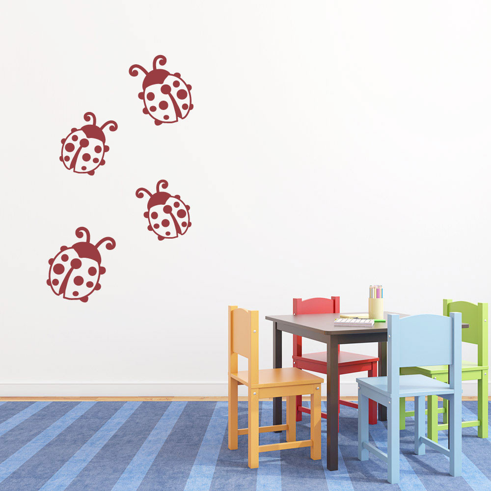 Marihøner wallsticker