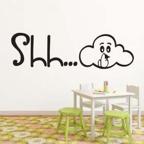 Shhh wallsticker