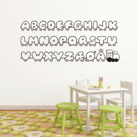 Alfabetet wallsticker