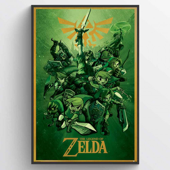 The Legend Of Zelda Plakat wallsticker
