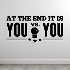 You vs. you wallsticker