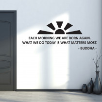 Each Morning - Buddha
