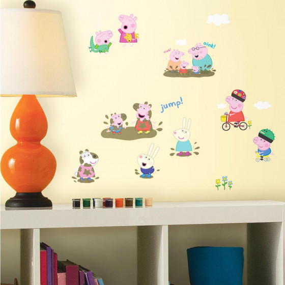 Peppa Gris - pakke wallsticker